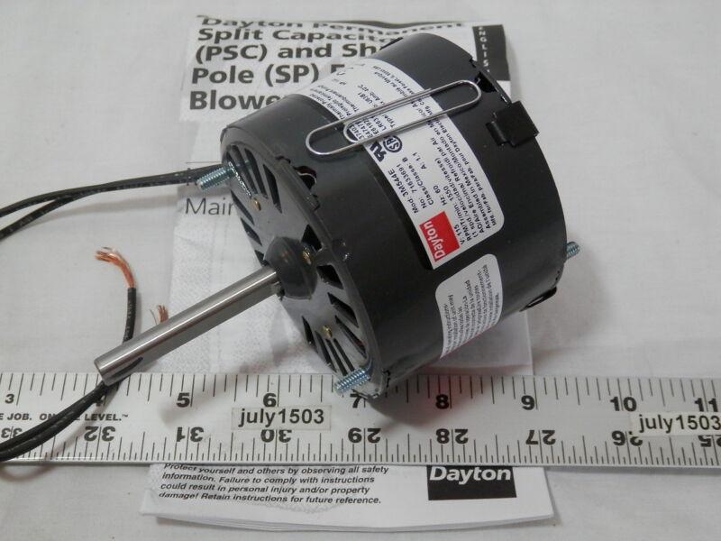 "(1) NEW Dayton 3M544 3.3"" HVAC Motor 5/16"" Shaft 1550 rpm CCW 120 volt 1/40 hp"