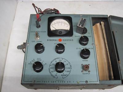 Vintage Ge Test Set 4ex1c-2 Tube Multimeter Signal Generator Attenuator W Manual