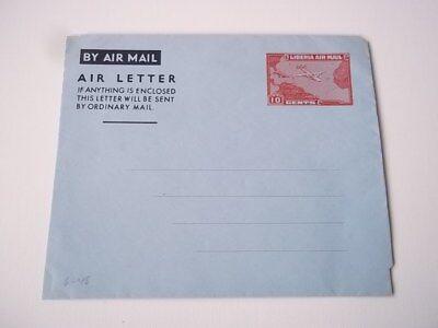 Liberia air letter.  Unused.