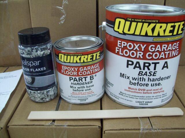 quikrete epoxy garage floor coating kit light gray w/blue valspar