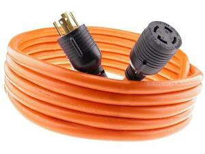 30 Amp 50 FT NEMA L14-30 4 Wire 10 Gauge 125/250V Generator Power Cord