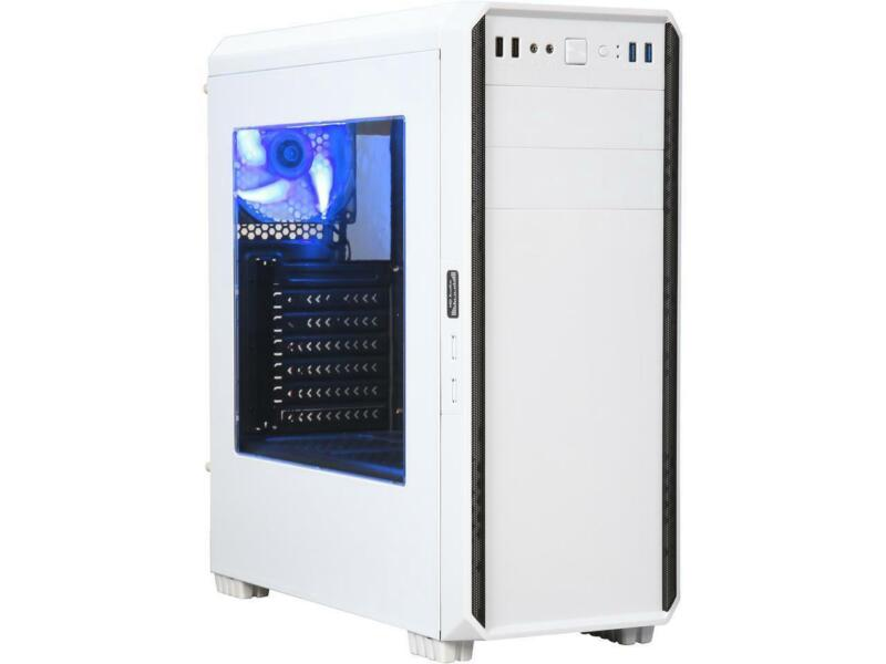 DIYPC J180-W White Dual USB3.0 ATX Mid Tower Gaming Computer Case with 2 x 120mm