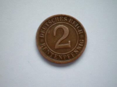 2 Rentenpfennig 1924 A  Kupfer