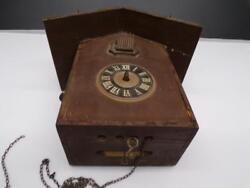 German Black Forest Cuckoo Parts Clock w/ 8-day Brass Movement marked 1 f260