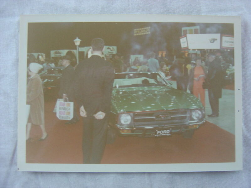 Vintage Car Photo 1971 Ford Mustang Convertible at Chicago Auto Show 787