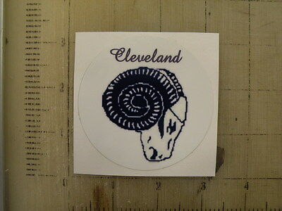 Vintage NFL Cleveland Rams football logo sticker decal