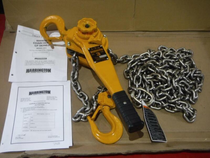 LB030-20 Harrington Chain Hoist 3 Ton 20ft Lift 6000 lbs Lever Come Along