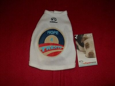 "Ruff Ruff and Meow Dog T Shirt  sz. XS  White with ""Hope for Treats"" Design"