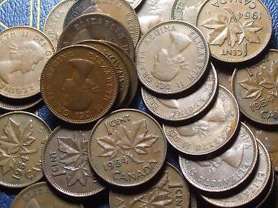 1954 CANADIAN SMALL CENTS QUEEN ELIZABETH II       BUY ONE OR BUY THEM ALL