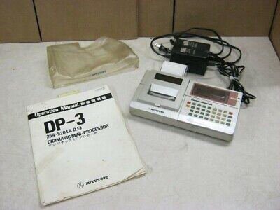 Mitutoyo Dp - 3 Digimatic Mini Processor W Power Supply Operation Manual
