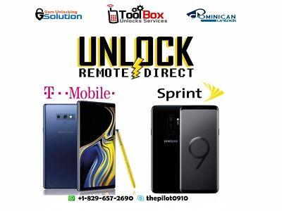 Samsung Galaxy Note 9 Sprint Remote Unlock Service