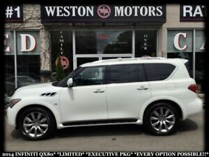 2014 Infiniti QX80 LIMITED*EXECUTIVE PKG*EVERY OPTION POSSIBLE!!
