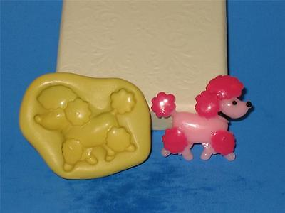 Pink Flexible Silicone - Pink poodle Flexible Silicone Push Mold mould Polymer Clay Resin Gumpaste A229