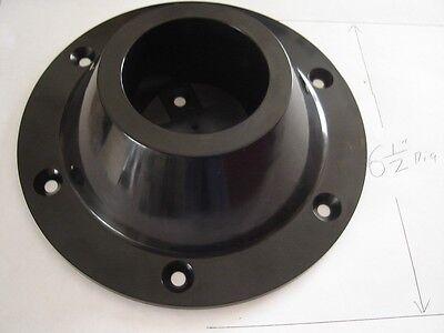 RV surface mount ABS pedestal TABLE LEG BASE black 6 1/2