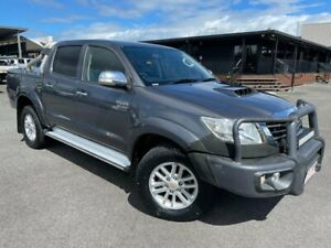 2013 Toyota Hilux KUN26R MY14 SR5 Double Cab Galactic Grey 5 Speed Automatic Utility Bungalow Cairns City Preview