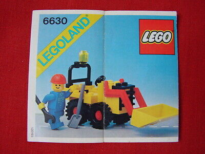 LEGO TOWN 6630 BUCKET LOADER 100% COMPLETE VINTAGE SET 1981 (See my items)
