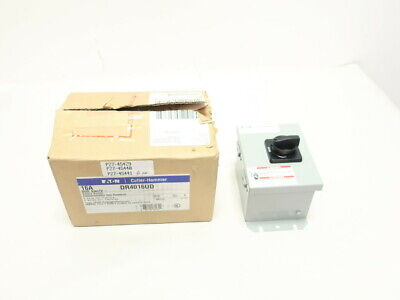 Eaton Dr4016ud Cutler Hammer Non-fusible Rotary Disconnect Switch 4p 16a 600v-ac