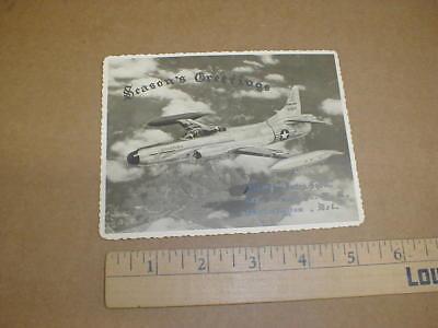 96th Fighter-Interceptor Sqd Air Force Wilmington DE vtg War Christmas card 1952