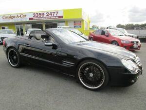 2002 Mercedes-Benz SL-Class R230 SL500 Black 5 Speed Sports Automatic Roadster Kedron Brisbane North East Preview
