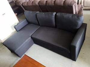 Storage sofabed chaise lounge!! Black linen fabric! BOXED NEW!! Springwood Logan Area Preview