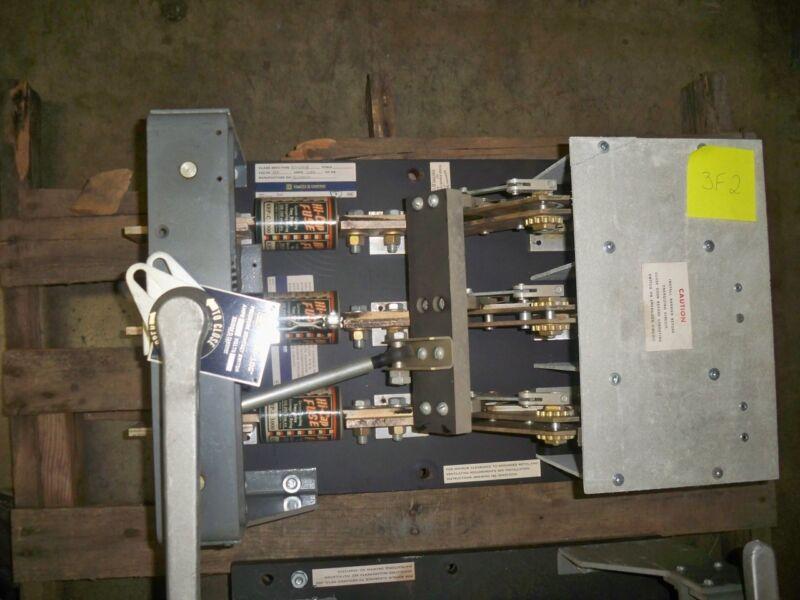 Square D Bolt-loc Blo32120 1200a 3p 240v Black Back Switch Used E-ok