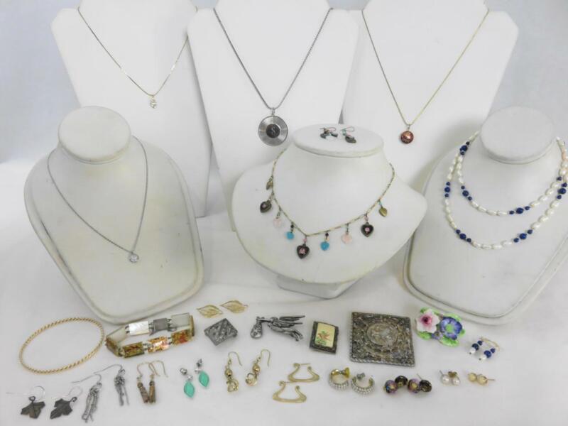 26pc Lot Necklaces Pendant Earrings Pins Persian Story Bracelet Cloisonne Peru