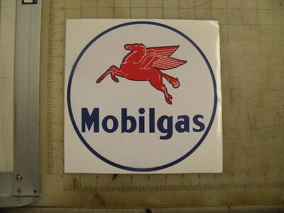 """Vintage Mobilgas Gasoline sticker 9"""" diameter"""