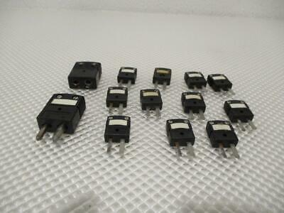 One Used Lot Of 13 Omega Thermocouple Connectors Type J.