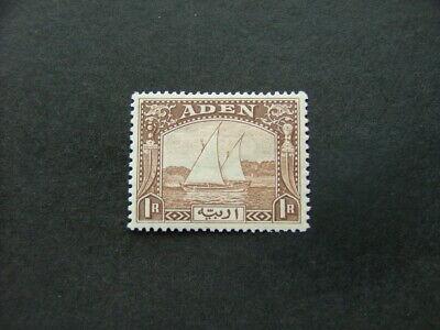 Aden 1937 1r brown SG9 MM