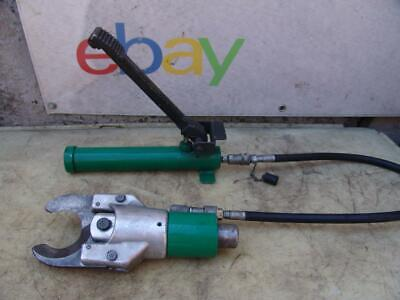 Greenlee 750 Hydraulic Cable Cutter 1725 Foot Pump 750 Mcm Capacity