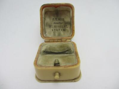 Celluloid Ring Jewellery Box Vintage Art Deco c1920 tbj0887