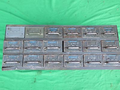 Steel Metal Cabinet 18 Drawer Steel Part Hardware Tooling Storage Bin Organize 9