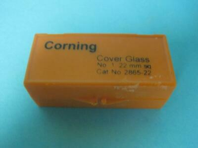 100 Corning Microscope Slide Cover Glass No. 1 22mm Square Cat 2865-22 New