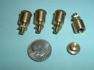 4 Model Hit And Miss Gas Or Steam Engine Brass Oil Cups 8-36 Mounting Thread