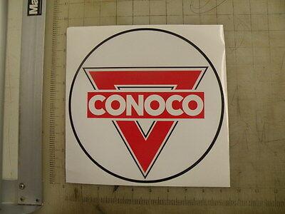 """Vintage Conoco gasoline sticker 9"""" diameter"""