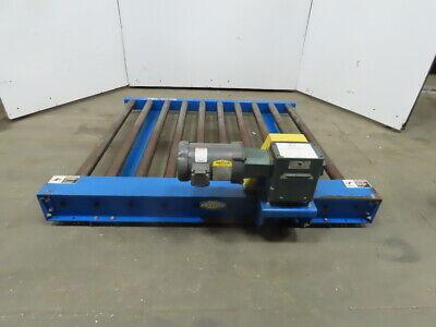 Lewco 60l X 49 Bf 34hp Power Roller Case Pallet Conveyor 20 Fpm 230460v