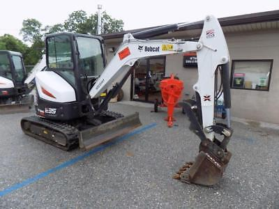 2017 Bobcat E35i Mini Excavator 105 Hrs Cab Acheat 2 Spd X-change Coupler