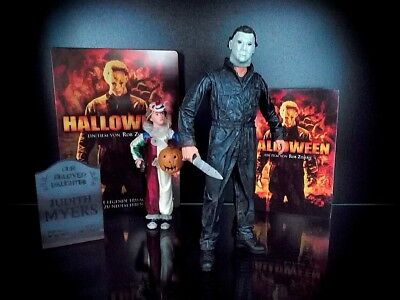 Rob Zombies Michael Myers (Halloween Set Michael Myers Figuren + DVD MOVIE v. Rob Zombie Metal Case Horror)