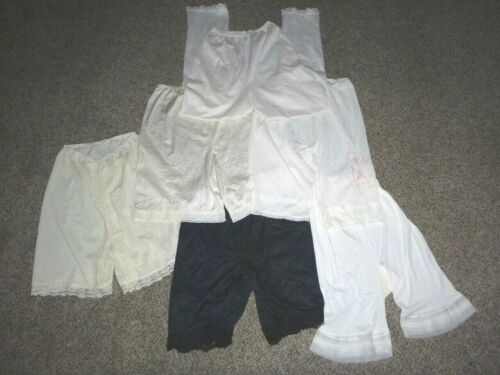 Lot of 6 Pair Vtg Pettipants/Pants Lingerie S/M Cutter As-Is