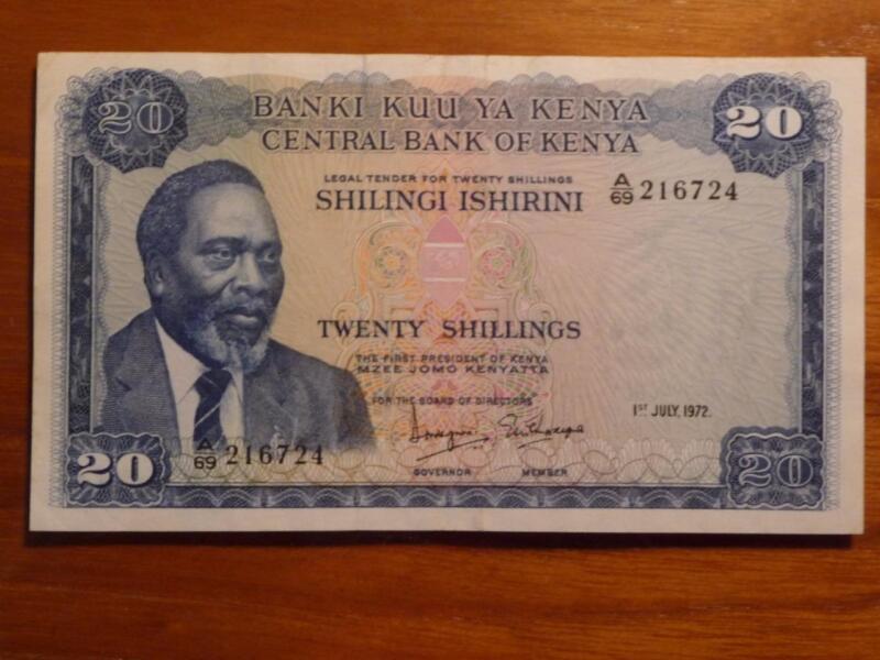 Kenya 1972, 20 Shilling ,#P86, XF Condition, SKU #6562