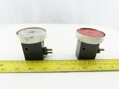 Clippard Pb-1 Pneumatic Palm Button 2 Hand Control Valve Lot Of 2 Red