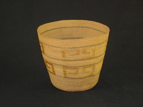 A Fine Northwest Tlingit Native American Indian Basket, Circa: 1910