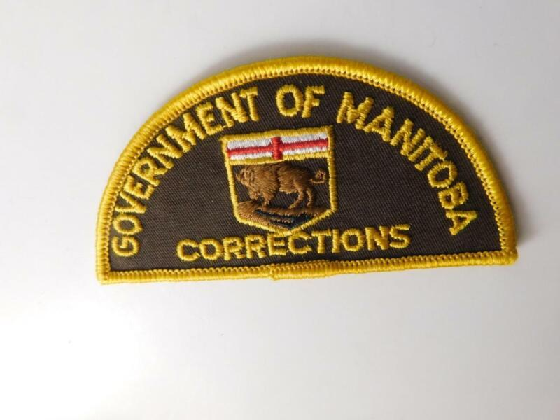MANITOBA DEPARTMENT OF CORRECTIONS VINTAGE UNIFORM PATCH BADGE GUARD POLICE