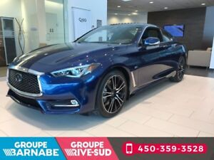 2018 Infiniti Q60 Coupe 3.0T SPORT ENS. TECHNOLOGIE 300HP INCRED