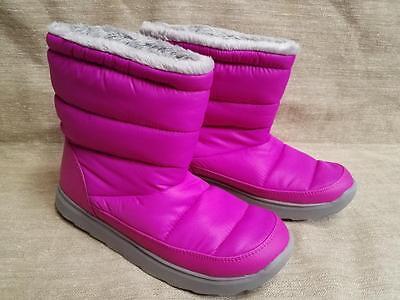 Fuschia Tek Gear Boots Brand New Snow Fashion Sport Puff Fur High Pink Moon Warm