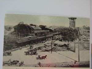 Union Depot, Fremont, Nebraska-Real Photo- Early 1900's Railroad Collectible