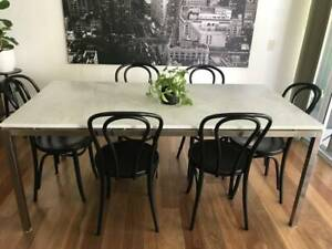 Kitchen table 6-8 seater quality marble top