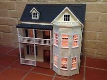 Original Victorian Handcrafted Dolls house + German furniture Lane Cove Lane Cove Area Preview