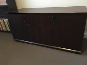 2 dark stained office cabinets Northbridge Willoughby Area Preview
