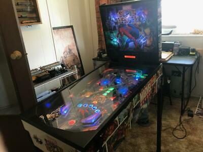 Zizzle  Marvel Super Heroes Pinball Machine VERY RARE not coin op Lights Up 100%